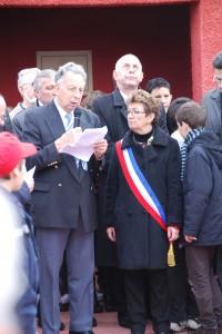 Hommage de Michel Evieux à la commémoration au Tata de Chasselay le 11 novembre 2012