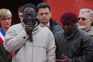 Prière de l'imam à la commémoration au Tata de Chasselay le 11 novembre 2012