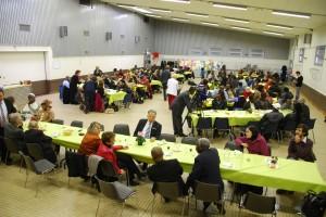 Repas à la salle des fêtes de Chasselay le 11 novembre 2012