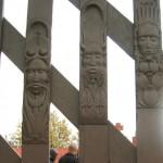 masques du portail du tata africain de Chasselay
